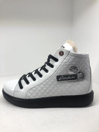 Ботинки белые женские кеды зимние