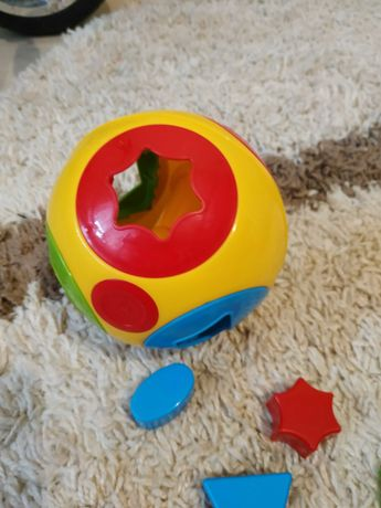 Мячик-сортер пластмассовый с фигурами