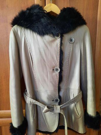 Куртка шкіряна з хутром