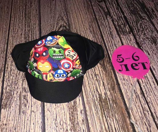 Непромокаемая кепка Marvel для мальчика 5-6 лет. 54-55 см