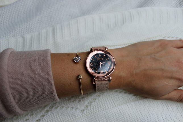 Elegancki zegarek damski, złoty, prezent, walentynki