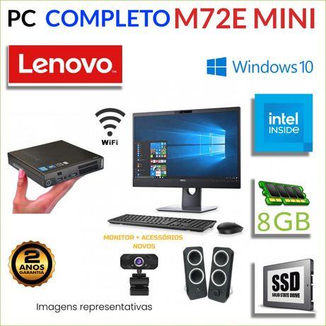CONJUNTO AIO TUDO EM 1 MICRO/MINI PC LENOVO M72E G540 8GB SSD
