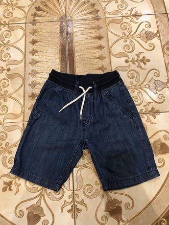 Шорты джинсовые H&M, на мальчика 6-7 лет,рост 122