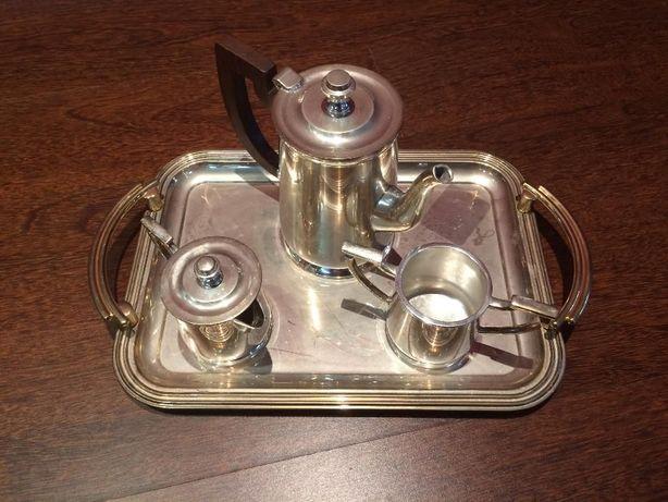 Serviço de chá banhado a prata