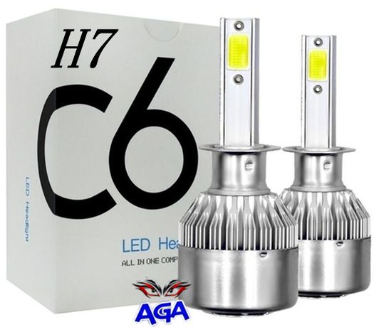 2 x Żarówka LED H7 - Swiatła Dzienne 12-24V 6000K 7600LM