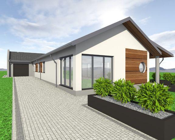 Nowy dom 160m2 z garażem ,działka 750 m2.Stan deweloperski.