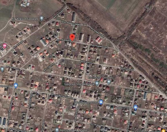 Ділянка по вул Барвінкова в Гатному 12 соток, поруч мегамартке