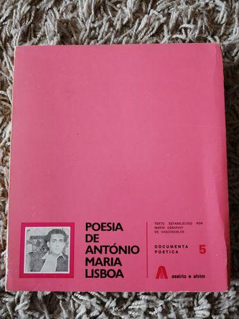 Poesia de António Maria Lisboa 1977 assírio alvim Muito Raro
