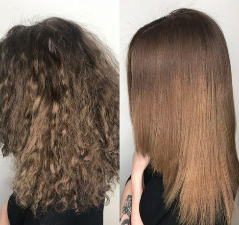 Кератиновое выпрямление волос ботокс волос