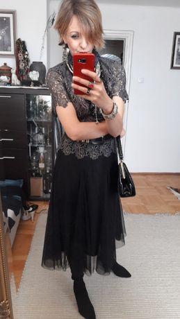 bluzka ARYN K 36 38 40 max elegancji i stylu gotyk koronka etno piękna