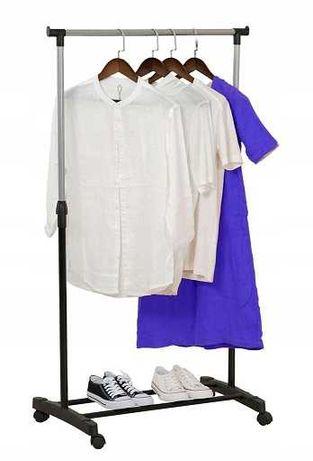 WIESZAK STOJĄCY NA KÓŁKACH ubrania stojak szafa