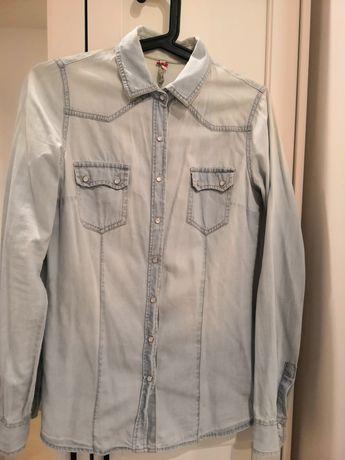 Koszula jeansowa z kieszonkami STRADIVARIUS rozmiar S