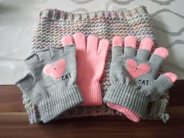 Komin i rękawiczki