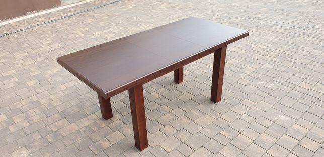 Stół rozkładany masywny kolor brąz