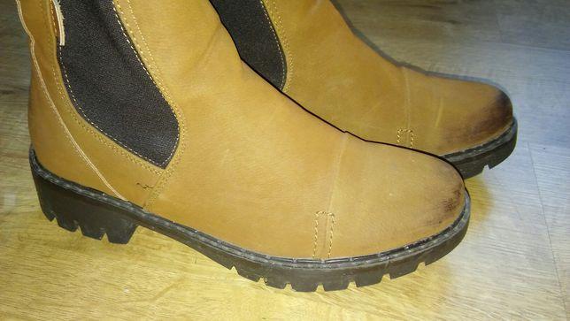Buty damskie karmelowe botki 38 wiosna jesień