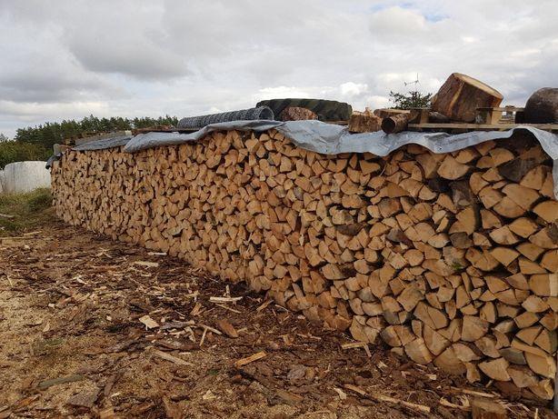 Drewno opałowe sosna pociete i połupa na 35 cm na sprzedaz okoł 300 m