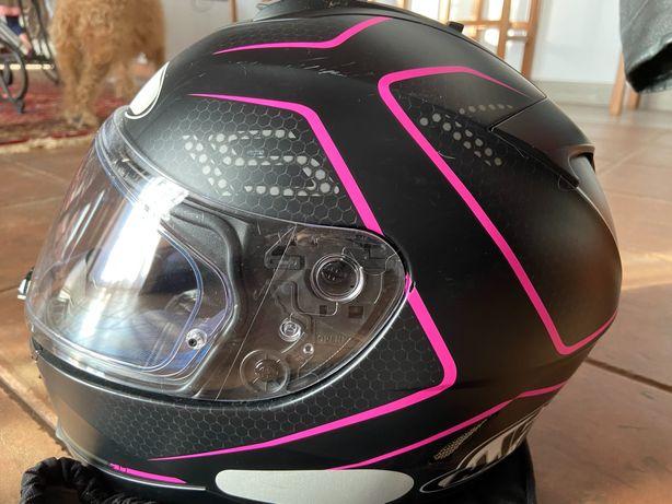 Capacete novo de mulher moto