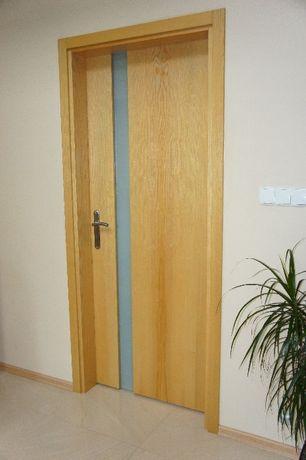 Drzwi wewnątrzne drewniane i okleinowane