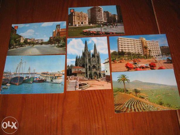 Postais Ilustrados de Espanha (6 antigos de várias localidades)