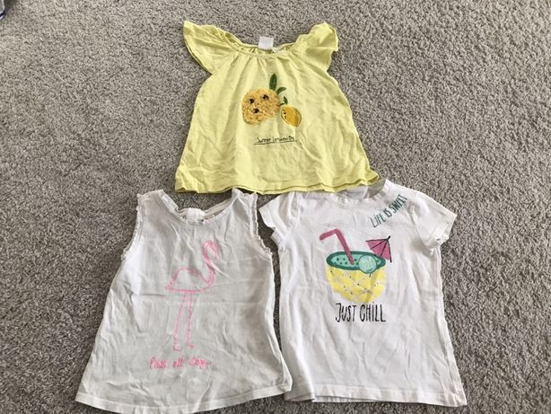 Koszulki i podkoszulki dziewczęce rozmiar 104 paka