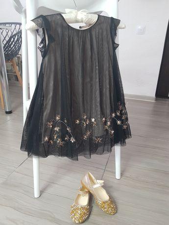 Шикарное платье на 104-116 Zara и туфельки 28р