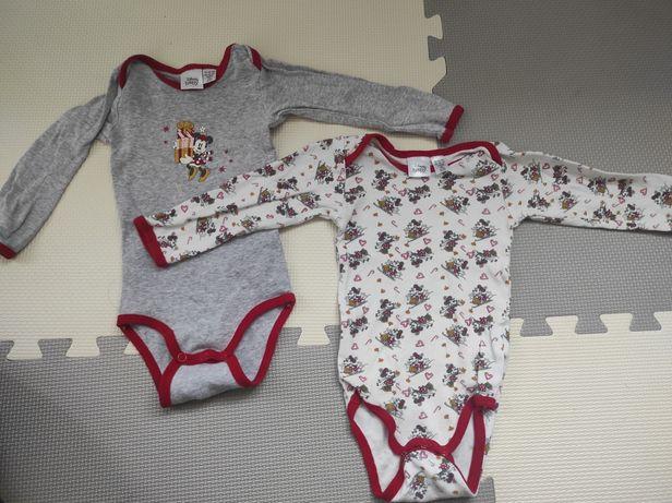 Dwa body z długim rękawem roz 74/80 Disney Baby.