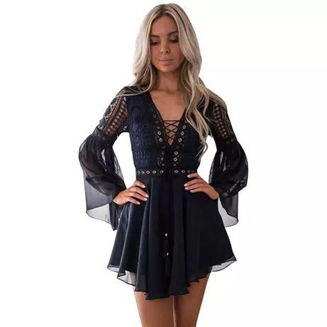 Nowa piękna granatowa sukienka L