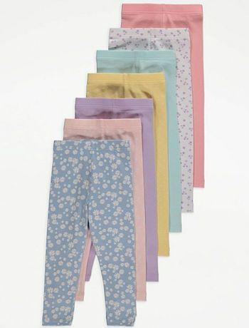 R92 7pak nowe legginsy kwiaty stokrotki George