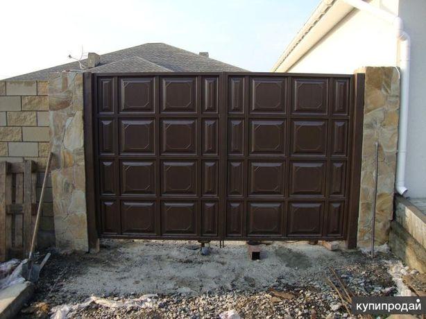 Ворота откатные, сдвижные, кованные, профнастил, распашные. СУПЕР ЦЕНА