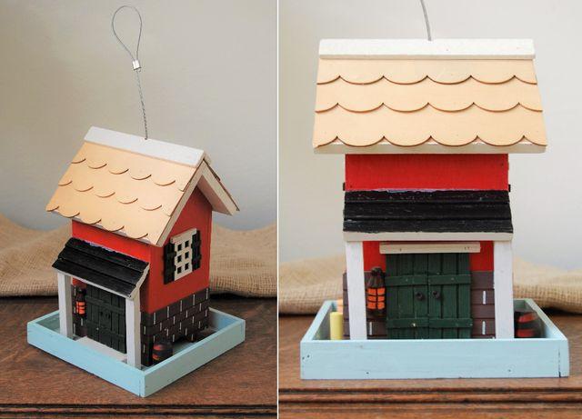 Domek, drewniany model 3D ,zawieszka, wiszący, rękodzieło
