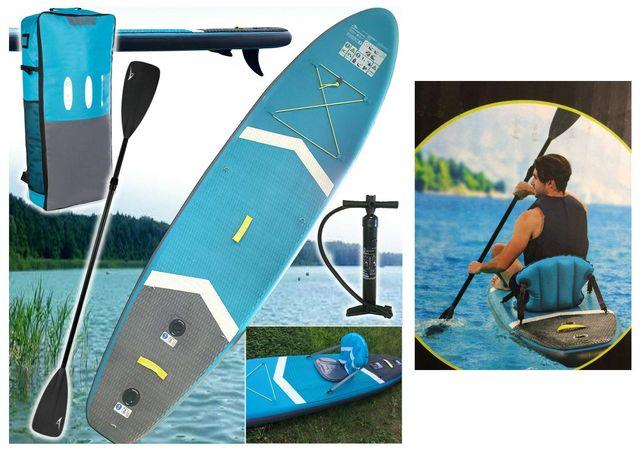 Pompowa deska pływania SUP Paddle-Board+siedzisko wiosło 300cm Demo
