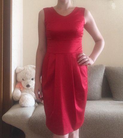 Платье женское красное миди вечернее