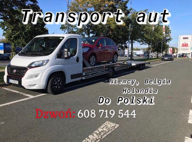 Transport aut samochodów autolaweta