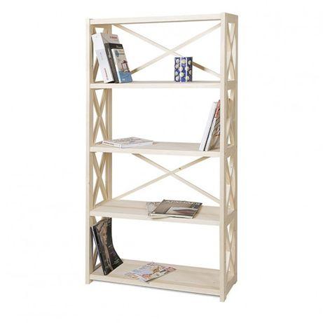 Стеллаж деревянный , этажерка на 5 полок прованс LOFT