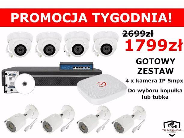 Zestaw monitoringu IP 5mpx monitoring/kamery