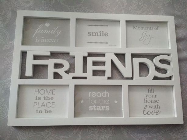 Biała ramka na zdjęcia FRIENDS