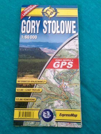 Góry Stołowe mapa laminowana