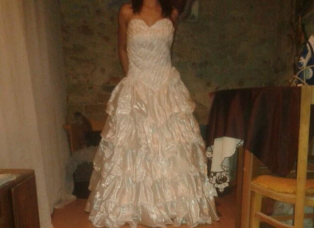 elegancka suknia ślubna z efektownym dołem! WRAŻENIE WOW!!!