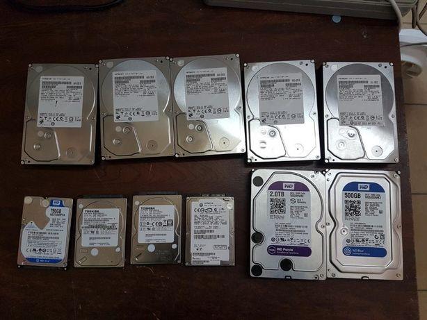Продам много жестких дисков 2,5 и 3,5