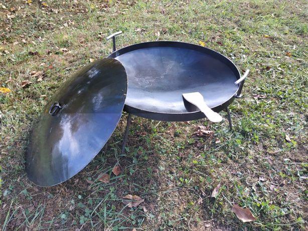 Сковорідка 50 см дискова для відпочинку , кришка в комплекті.