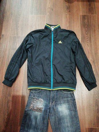 Куртка джинсы 140 рост кофта