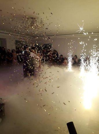 Спецефекти на перший танець важкий дим конфеті холодні фонтани