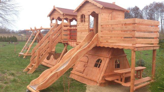 plac zabaw domek balkon ślizg ławeczki piaskownica montaż cały kraj