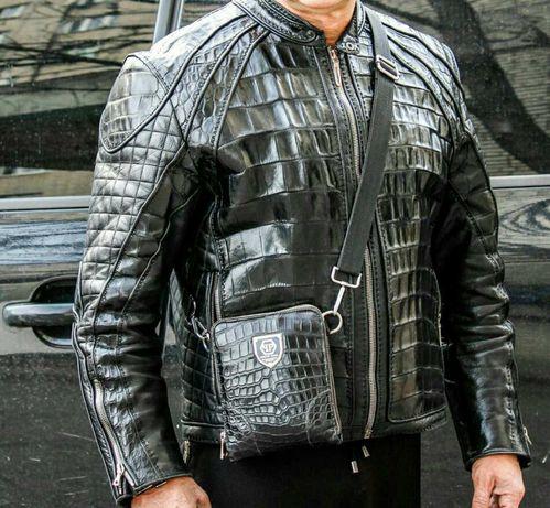 Куртка мужская с кожи крокодила