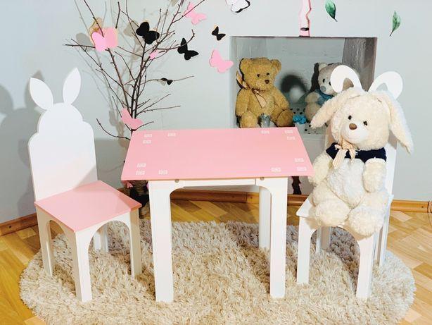 Детский столик и стульчик из натуральных материалов Стол-парта