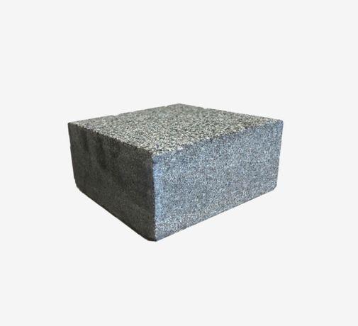 Czarna GABRO kostka granitowa - CIĘTA płomieniowana 10x10x5 cm