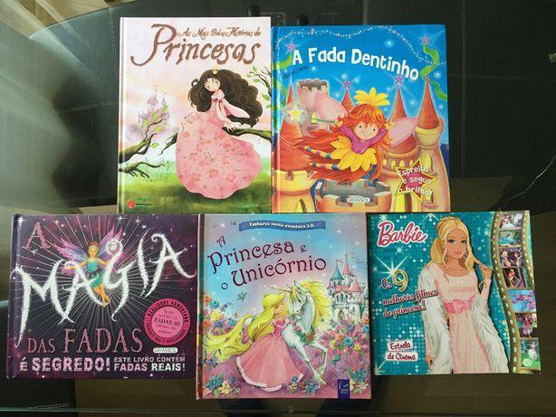 PACK 5 livros infantil criança disney e outros