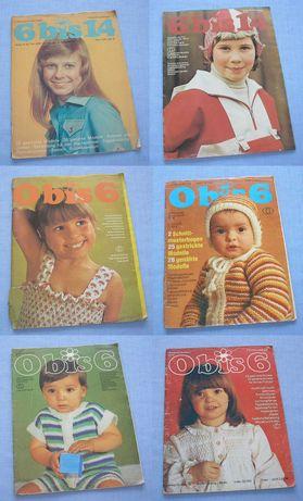 Szycie wykroje 1978/79 Moda dla dzieci ubranka Gazety Vintage