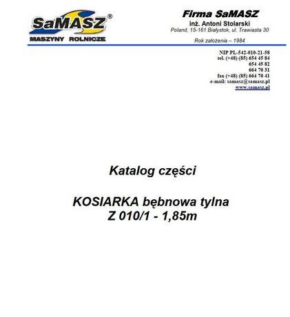 Katalog części kosiarka rotacyjna tylna Z 010/1