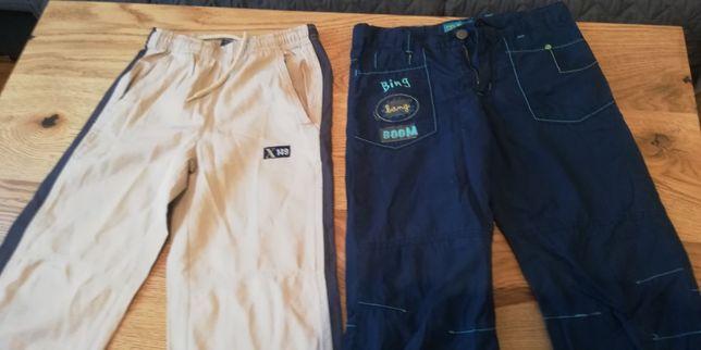 Spodnie chłopięce 2 pary w roz. 128cm